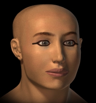 Facial reconstruction rendering of King Tutenkhamen.